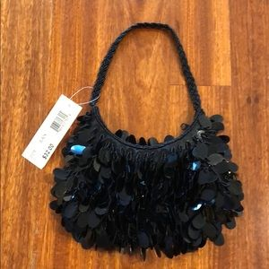Black evening bag